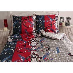 Pościel satynowa Noble Tessera Red 100% bawełny