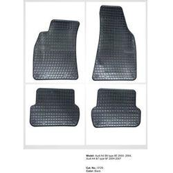 Dywaniki gumowe czarne z kompletem stoperów - Audi A4 (B6, B7) 2000-2008