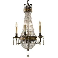 LAMPA wisząca FE/BELLINI4 Elstead FEISS świecznikowy ŻYRANDOL kryształowa OPRAWA crystal antyczny brąz