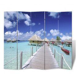 Parawan (200 x 180) z motywem plaży, dwustronny Zapisz się do naszego Newslettera i odbierz voucher 20 PLN na zakupy w VidaXL!