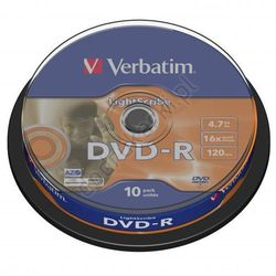 Verbatim DVD-R 4.7GB 16x LightScribe cake box 10 szt. - 43643