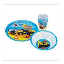 Serwis obiadowy dla dzieci, 3 elem, niebieski