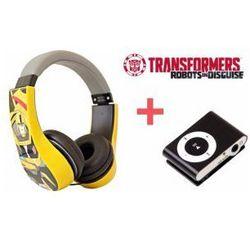 Słuchawki Nauszne Dzieci Transformers Bumblebee + Odtwarzacz MP3 Czarny