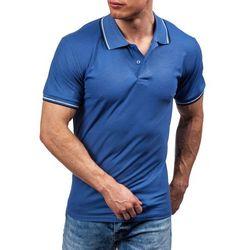 Niebieska koszulka polo męska Denley 556 - NIEBIESKI Koszulki Polo 06.06.2016 - 24.99 (-38%)
