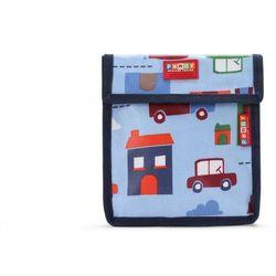 Penny Scallan Design, torebka na przekąski, wielokrotnego użytku, niebieska w autka Darmowa dostawa do sklepów SMYK