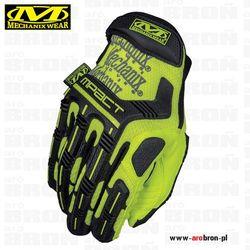Rękawice taktyczne Mechanix M-Pact HI-VIZ YELLOW (SMP-91) - dla strzelców, na rower, doskonała ochrona, fluorescencyjne