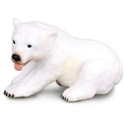 CollectA Dzikie zwierzęta Arktyki Młody niedźwiedź polarny siedzący