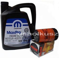 Filtr oleju FRAM oraz oryginalny olej MOPAR 10W30 Jeep Grand Cherokee 3,7 V6 -2008