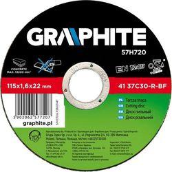 Tarcza do cięcia GRAPHITE 57H722 125 x 1.6 x 22.2 mm do kamienia