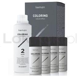 Coloring zestaw do koloryzacji dla mężczyzn efekt naturalny 100 ml + 4 x 25 ml Kemon