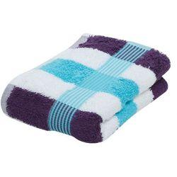 Gözze, ręcznik bawełniany, seria NEW YORK STREIFEN, rozmiar 70x140cm, kol. turkusowy/biały/fioletowy, nr 555-8300-5