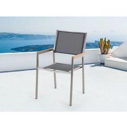 Meble ogrodowe szare - krzeslo ogrodowe - balkonowe - tarasowe - GROSSETO