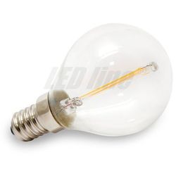 Żarówka LED Filament E14 230V 2W biała ciepła GLOBE