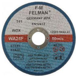 Tarcza do cięcia metalu 125 x 2.5mm FELMAN
