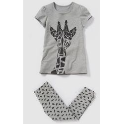 Piżama z dżerseju z nadrukiem żyrafy 2-12 lat