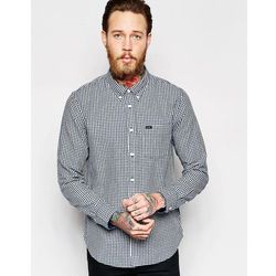 Lee Regular Fit Shirt Mini Dobby Check in Washed Blue - Blue