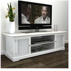 Stolik pod TV, drewniany, biały Zapisz się do naszego Newslettera i odbierz voucher 20 PLN na zakupy w VidaXL!