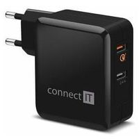 Connect IT QUICK CHARGE 3.0 adapter ładowania 2× USB (3,4 A), QC 3.0, czarny CWC-3010-BK