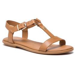 b3a7bd46d5f8b Sandały TOMMY HILFIGER - Elevated Leather Flat Sandal FW0FW03946 Summer  Cognac 929