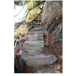 Fototapeta stare betonowe schody