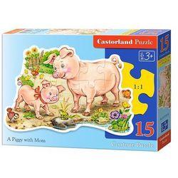 Mała świnka z mamą Puzzle 15