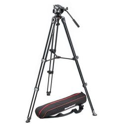 Manfrotto Twin TELESCOPIC, głowica 500a i torba