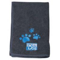 Ręcznik do kąpieli psów 40cm x 60cm mikrofibra grafitowy