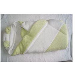 Duet Baby rożek niemowlęcy z kapturkiem WYPRZEDAŻ zielono-biały