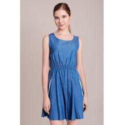Sukienka z nadrukiem w groszki, bez rękawów