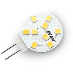 Żarówka LED 9 SMD G4 12V 1,8W biała ciepła - biała ciepła