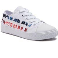 e281e0b2f6e64 Trampki TOMMY HILFIGER - Low Cut Lace-Up Sneaker T3A4-30263-0617 White
