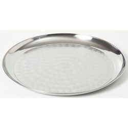 Taca do serwowania - okrągła ze stali chromowej ośrednicy 35 cm