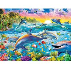 Puzzle 500 High Quality Collection Tropical Dolphins