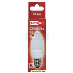 ActiveJet AJE-DS2027C Lampa LED SMD Candle 450lm 5W E27 barwa biała ciepła