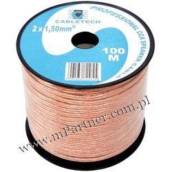 Przewód głośnikowy kabel CCA 2x1,5 mm 100m