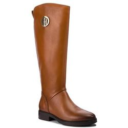 159edd5087bfa Oficerki TOMMY HILFIGER - Basic Th Riding Boot FW0FW03433 Cognac 606