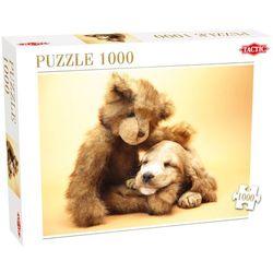 Tactic, Pluszowy miś i piesek, Puzzle 1000 elementów Darmowa dostawa do sklepów SMYK