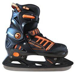 Łyżwy hokejowe regulowane Ontario - Czarny