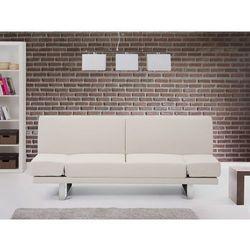 Sofa z funkcją spania beżowa - kanapa rozkładana - wersalka - YORK