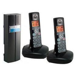 EURA CL-3622B Domofon bezprzewodowy, dwie słuchawki, czarny