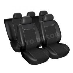 Skórzane pokrowce samochodowe miarowe PREMIUM CZARNE Ford Transit Custom od 2012r.