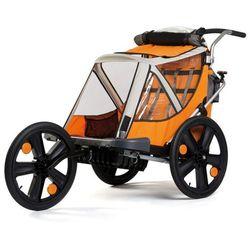 Przyczepka rowerowa BELLELLI + Jogging Pomarańczowa + DARMOWY TRANSPORT! + Zamów z DOSTAWĄ JUTRO!