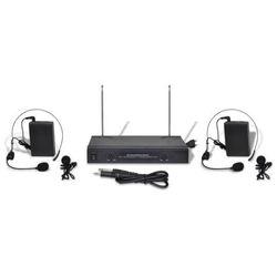 vidaXL Zestaw dźwiękowy (odbiornik+słuchawki bezprzewodowe+mikrofon VHF) Darmowa wysyłka i zwroty