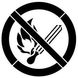 Szablon plastikowy do malowania Znak Zakaz używania otwartego ognia GP003 - 85x85 cm