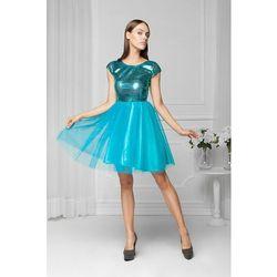 Sukienka tiulowa turkusowa