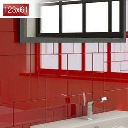 Płytki Czerwone Kafelki COMPONER Mozaika Szklana 123x61mm