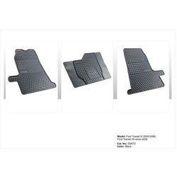 Dywaniki gumowe czarne z kompletem stoperów - FORD Transit (V) 2000-2006