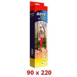 Lamela siatka na drzwi przeciw owadom 90x220cm czarna BROS