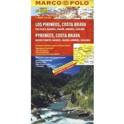 Hiszpania. Pireneje, Costa Brava 1:300 000. Mapa samochodowa, składana. Marco Polo (opr. twarda)