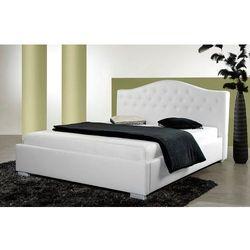 PRINCESS białe łóżko 180 cm tapicerowane z pojemnikiem - biały \ 180 x 200 cm